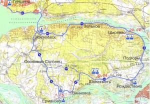ТВК-5. Карта маршрута